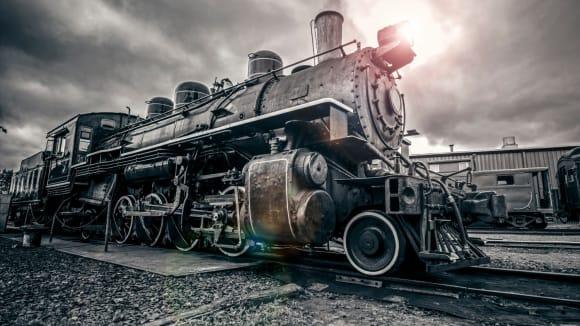 Parní lokomotivy umožnily industrializaci a změnily charakter válek