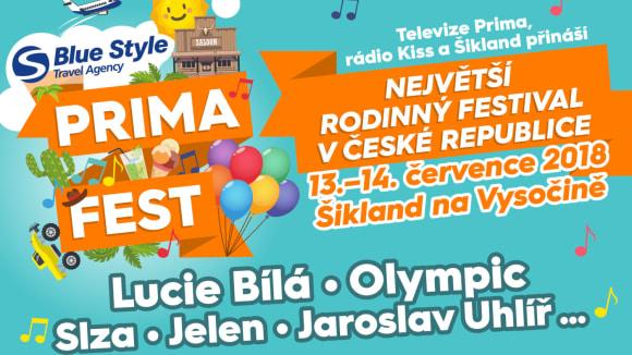 PRIMA FEST – rodinný festival v areálu Šiklův mlýn na Vysočině
