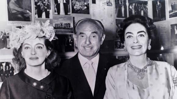 Bette Davis a Joan Crawford společně s režisérem Alfredem Molinou