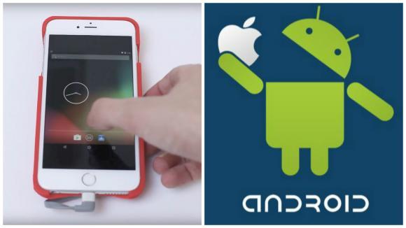 Android běžící na iPhonu.