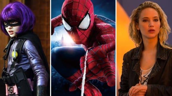 Hit-Girl, Spider-Man a Mystique