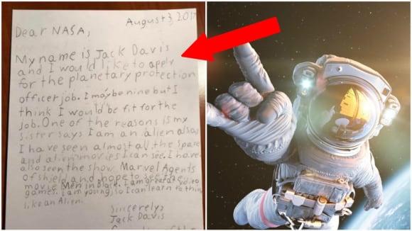 Malý Jack chtěl bránit Zem před mimozemšťany! Tohle mu NASA odpověděla