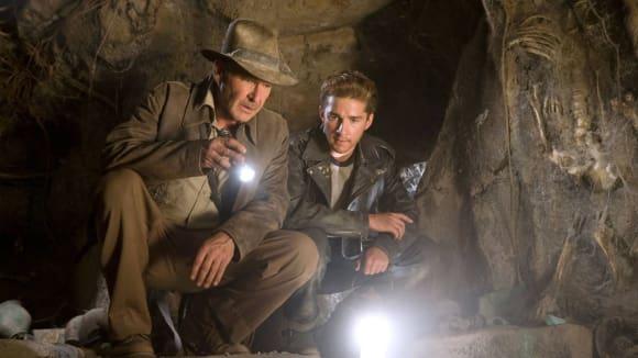 Záběry z filmu Indiana Jones a tajemství křišťálové lebky