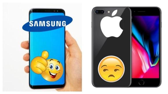 Samsung porazil nové iPhony v hodnocení zákazníků