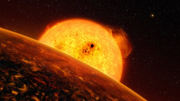 Takhle by mohla vypadat žhavá planeta Corot-7b