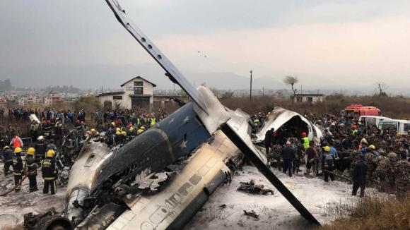 havárie letadla v Nepálu