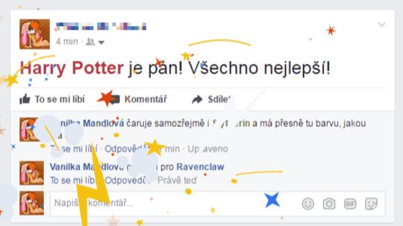 Harry Potter dnes kouzlí na Facebooku!