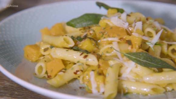 Těstoviny s restovanou dýní s parmazánem