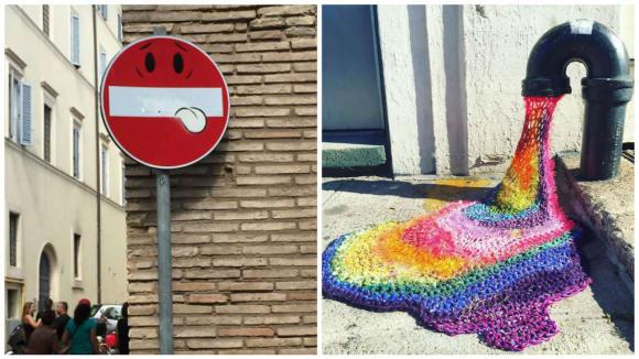 Pouliční humorné vylepšováky
