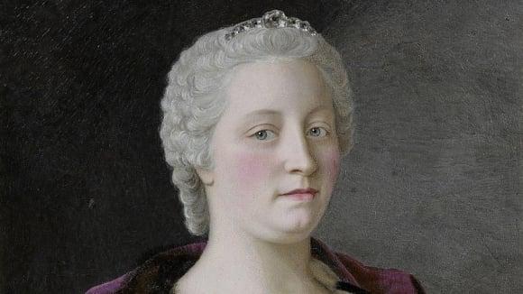 Marie Terezie na portrétu z roku 1747