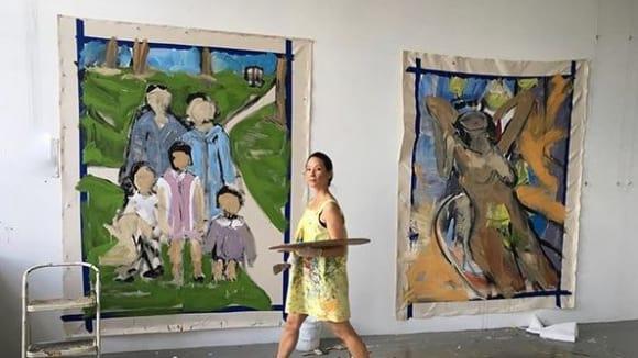 Lucy Liu s velkými plátny