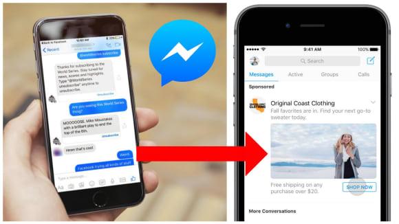 Facebook spouští reklamu ve svém Messengeru
