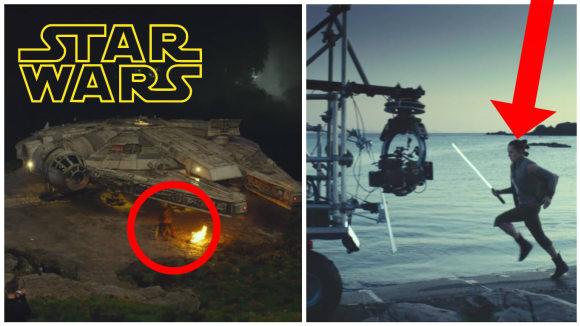 Záběry z natáčení Star Wars: Poslední z Jediů