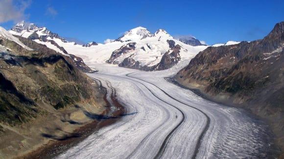 Švýcarský ledovec Aletsch