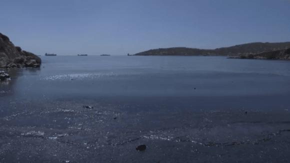 Ropná skvrna u pobřeží Řecka