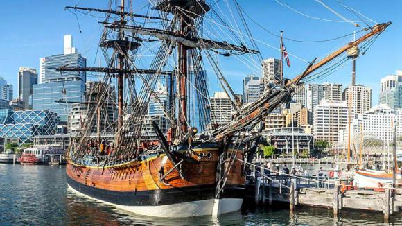 Replika lodi Endeavour
