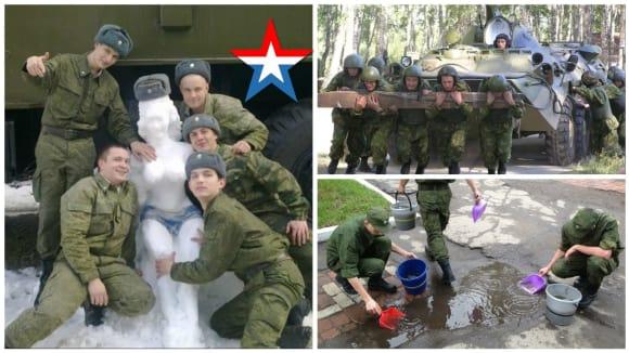 Vtipné fotky z ruské armády