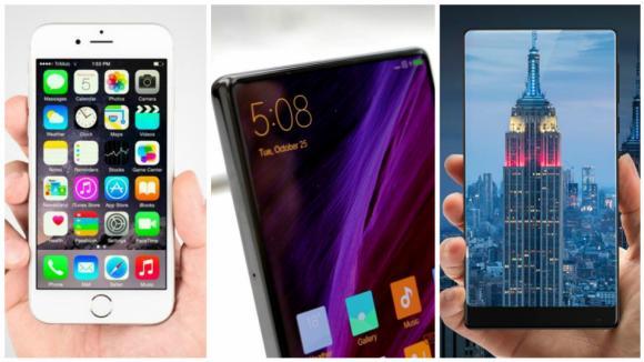 Xiaomi Mi Mix se chlubí displejem, který zabírá takřka celé čelo telefonu.