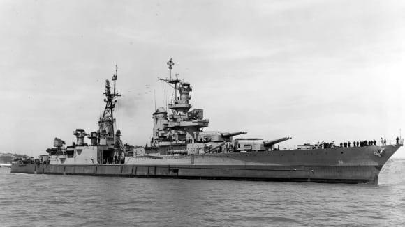 Křižník Indianopolis v roce 1945 - před potopením