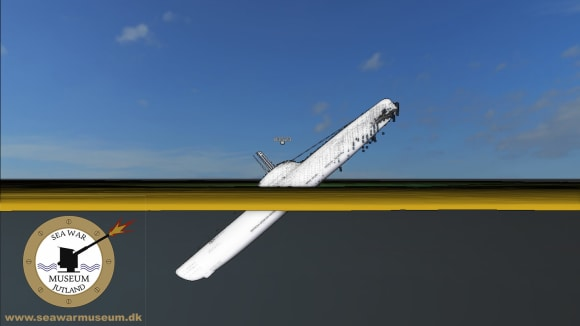 Pozice ponorky U-3523