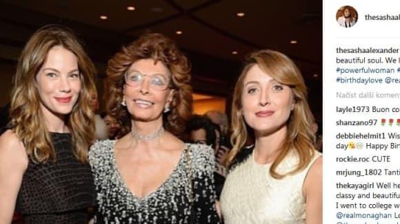 Sophia Loren se snachou Sashou Alexander