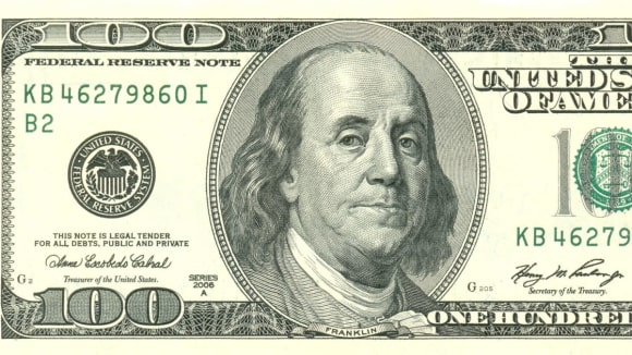 Benjamin Franklin na stodolarové bankovce