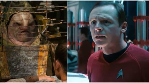 Simon Pegg jako Unkar Plutt ve Star Wars: Síla se probouzí
