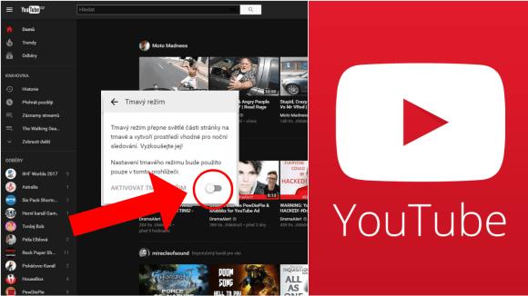 Aktivujte si tmavý režim YouTube