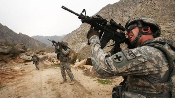 Vojáci bojující v Afghánistánu