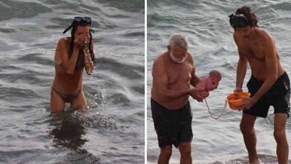 Porod v moři? Ruská turistka přivedla na svět miminko přímo v Rudém moří!