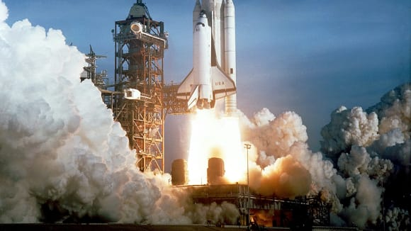 Start raketoplánu Columbia