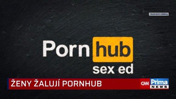 Ženy žalují Pornhub (zdroj: CNN Prima NEWS)