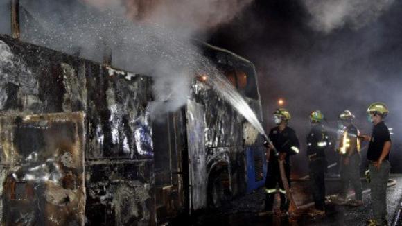 Požár autobusu v Thajsku