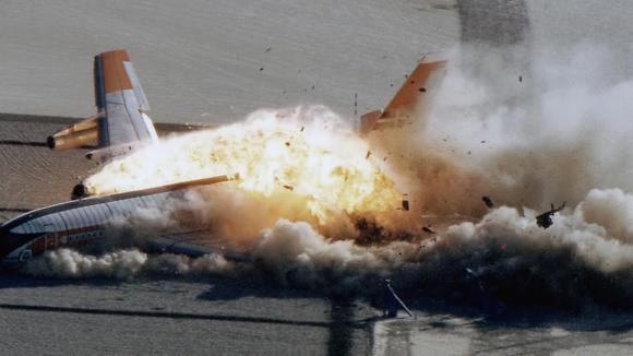Kontrolovaná demonstrace pádu letadla