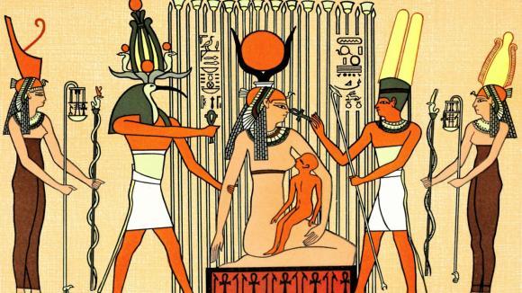 Bohyně Isis kojí malého Hóra