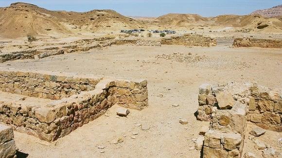 Trosky esejského sídliště v Kumránu