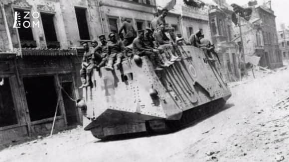 První německý tank AV7 měl posádku 18 lidí