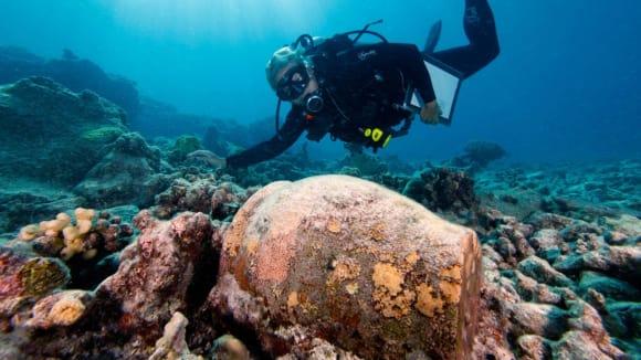 Potápěč a amfora