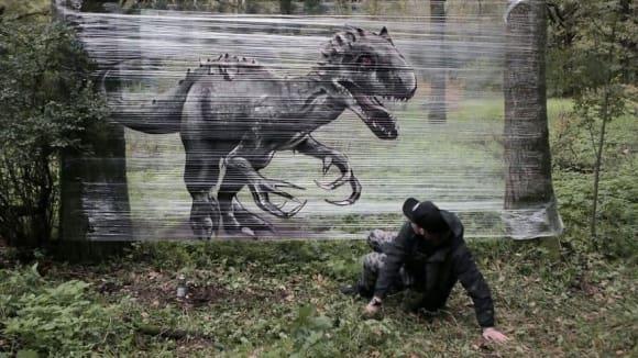 Fantastická lesní graffiti