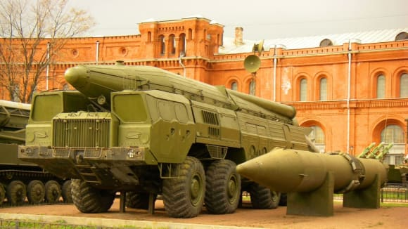 Jaderný nosič SS-12 v Petrohradském muzeu