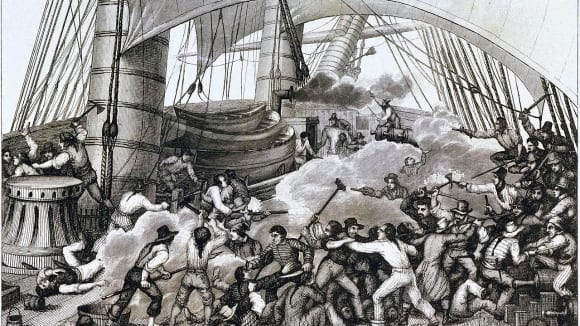 Bitva korzárů na lodi Triton