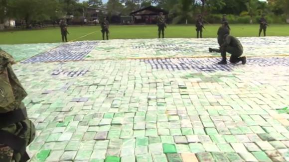 12 tun zabaveného kokainu v Kolumbii