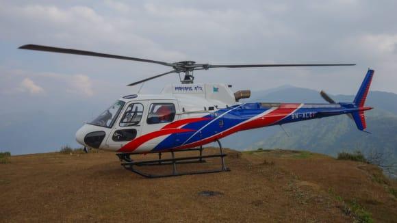 Jak to může vypadat, když vás zachraňuje vrtulník v Nepálu 9
