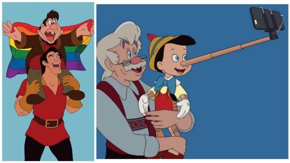 Pohádky od Disneyho, jak by asi vypadaly v dnešní realitě