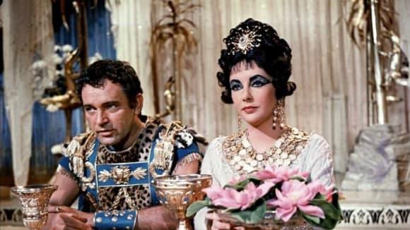 Záběry z filmu Kleopatra