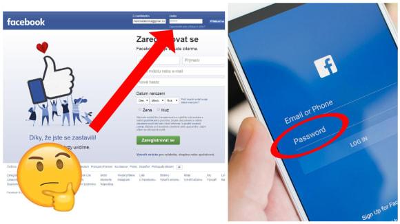 Facebook vám odpustí některé chyby při přihlášení
