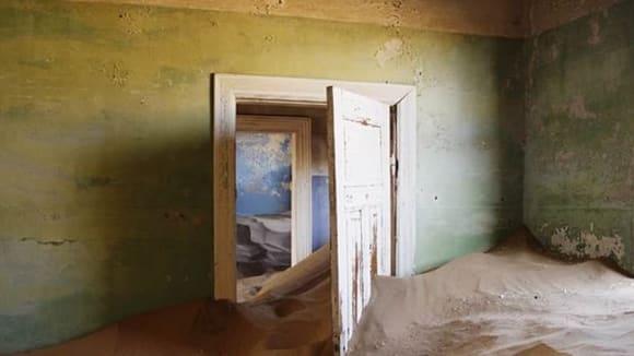 Kolmanskop v Namibii