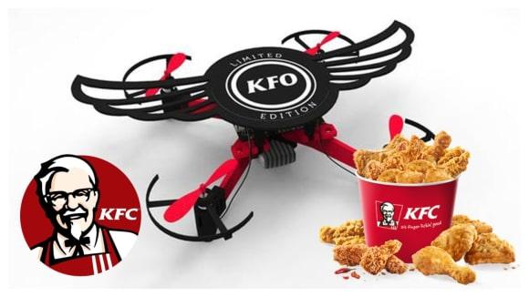 KFC vám dá v Indii ke kuřecím křídlům dron s názvem KFO