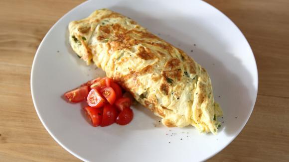 Omeleta s malgodem.