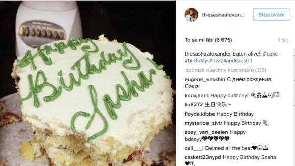 Sasha slavila 43. narozeniny